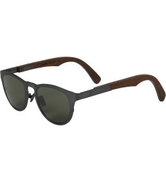 Shwood Gun Metal Titanium/Walnut Francis: G15 Polarized Sunglasses Model Picture
