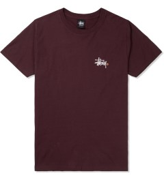 Stussy Wine Basic Logo T-Shirt Picture