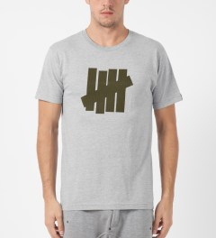 Undefeated Heather Grey Rain Drop T-Shirt Model Picture