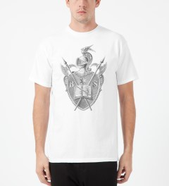 Black Scale White Knighted Crest T-Shirt Model Picture