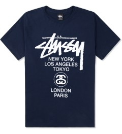 Stussy Navy World Tour T-Shirt Picture