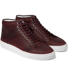 ETQ Maroon High Top Sneakers Model Picture