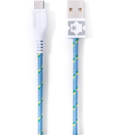 Eastern Collective Blue/White/Yellow Clover Micro USB Collective Cable Picutre