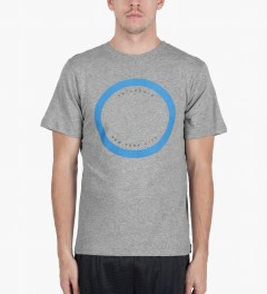 SATURDAYS Surf NYC Heather Grey Empty Circle T-Shirt Model Picture