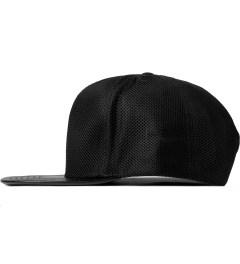 Stampd Black Mesh Standard Snapback Cap Model Picture