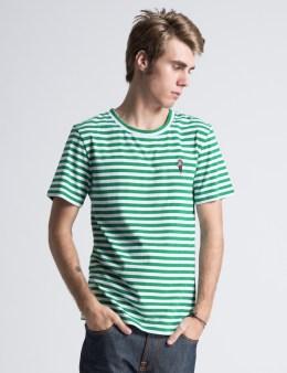 ICECREAM Green/White Striped T-Shirt Picture