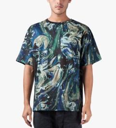 MSGM Navy/Blue Maglia T-Shirt Model Picutre