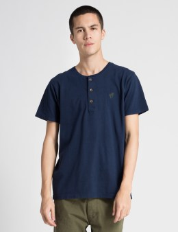 ONLY Navy OK Henley T-Shirt Picture