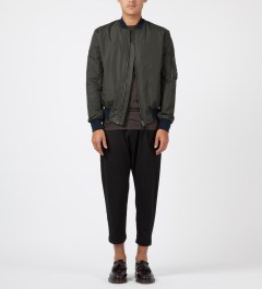 SILENT Damir Doma Charcoal Jiolas Bomber Jacket Model Picture