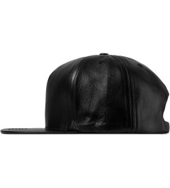 HUF Black Fuck It  Leather Strapback Cap Model Picutre