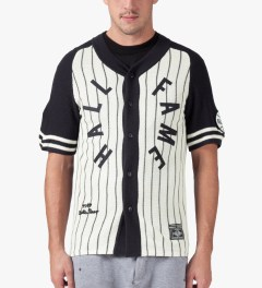 Hall of Fame Navy Pinstripe Jersey Model Picture