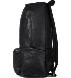 IISE Black Leather Daypack Backpack Model Picture