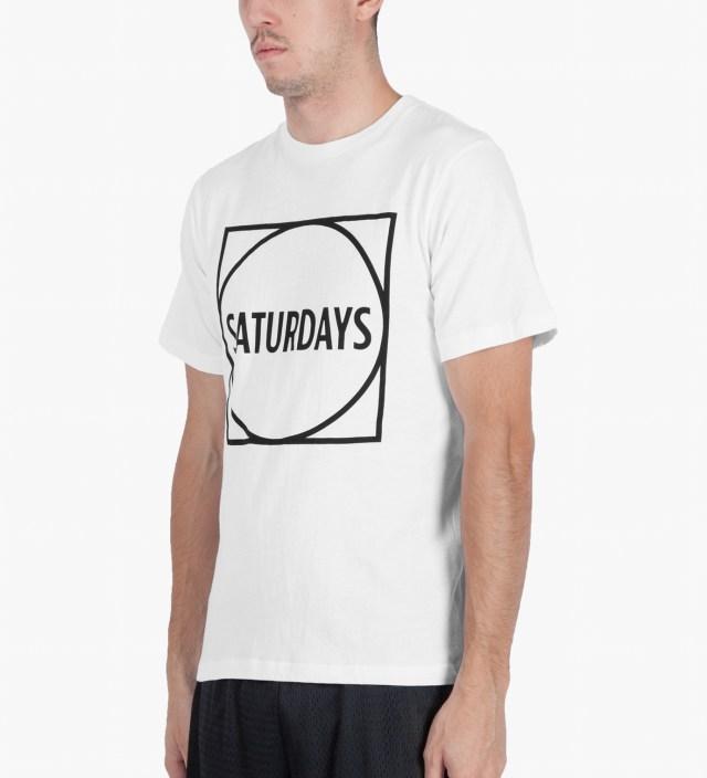 White Circle Square T-Shirt