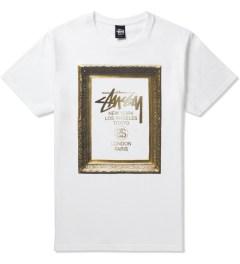 Stussy White World Tour Frame T-Shirt Picutre