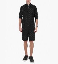 Libertine-Libertine Black/White Ocean Shorts Model Picutre