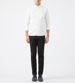FUCT SSDD White SSDD Oxford Shirt Model Picture