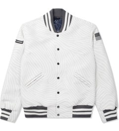 Opening Ceremony Light Grey Multi Dimensional Fingerprint Classic OC Varsity Jacket Picture