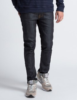 Nudie Jeans Tape Ted Dry Selvage Comfort Blue Denim Jeans Picture