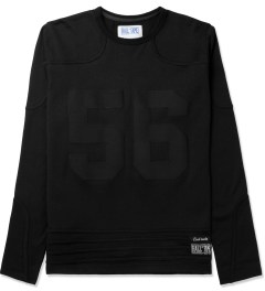 Hall of Fame Black Sports L/S Jersey Picture