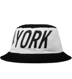 Stampd Black/White Big NY Colorblock Bucket Hat Model Picture