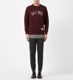 Daily Paper Red Melange Script Logo Sweater Model Picture