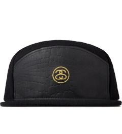 Stussy Black Wool & Croc Arch Cap Picture
