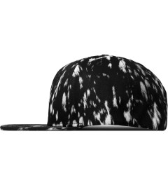 Stampd Black Calf Hair Print Snapback Cap Model Picutre