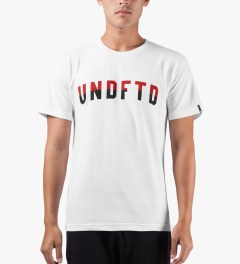 Undefeated White Two Tone T-Shirt Model Picutre
