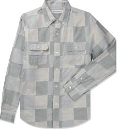 Head Porter Plus Off White Patchwork L/S Shirt Picture