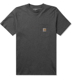 Carhartt WORK IN PROGRESS Dark Grey Heather S/S Pocket T-Shirt Picutre