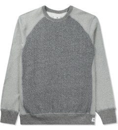 Reigning Champ Grey RC-3269 Hybrid L/S Crewneck Sweater Picture