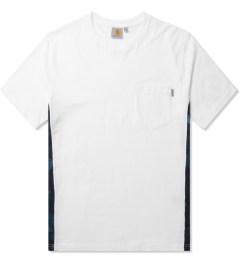 Carhartt WORK IN PROGRESS White/Night Print/Monsoon S/S Glan T-Shirt Picutre