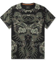 maharishi Black Pixel Panther Slouch T-Shirt Picture
