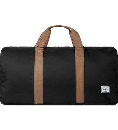 Herschel Supply Co. Black/Tan Ravine Duffle Bag Picutre