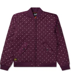 Primitive Burgundy Dots Bomber Jacket Picture