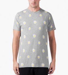 Mark McNairy Heather Grey Daisy Print T-Shirt Model Picture