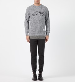 Daily Paper Grey Melange Script Logo Sweater Model Picture