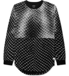 Stampd Black Allover Snake Print L/S T-Shirt Picture