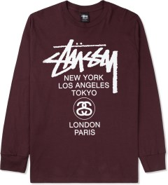 Stussy Wine World Tour L/S T-Shirt Picture