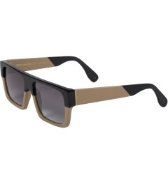 SUNDAY SOMEWHERE Tan Leather MVP Sunglasses Model Picture