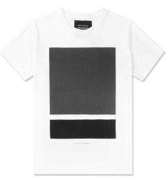 Tourne de Transmission White/Black/Grey Split Box Print T-Shirt Picutre