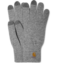 Carhartt WORK IN PROGRESS Heather Grey Touch Screen Gloves Picutre