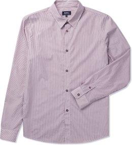 A.P.C. Red Poplin Stripe L/S Shirt Picture