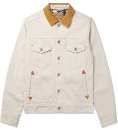 Deluxe White Upsetter Denim Jacket Picture