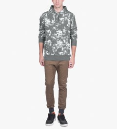 HUF Black Floral Pullover Hoodie Model Picture