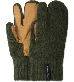 Raised by Wolves Olive Deerskin Palm Gloves Picture