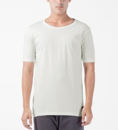 SILENT Damir Doma White Tare T-Shirt Model Picture