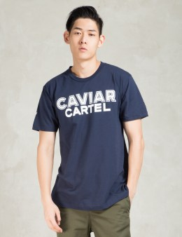 SSUR Caviar Cartel Navy Block T-Shirt Picture