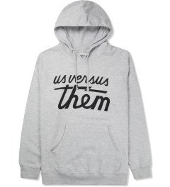 Us Versus Them Heather Grey Magnum Hoodie Picture