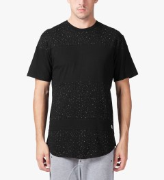 Stampd Black Speckled Panel T-Shirt Model Picutre